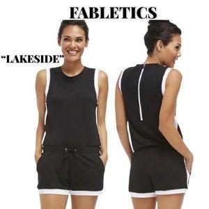 "Fabletics Black/White ""Lakeside"" Romper, Size M"